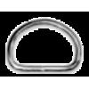 D-ring, 30mm, metaal, zilverkleurig (zwaar)
