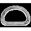 D-ring, 38mm, metaal, zilverkleurig (zwaar)