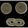 Magneetsluiting, 14mm, bronskleurig