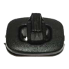 Turn clasp for bags, plastic, 33 x 25mm, black