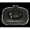Draaisluiting voor tassen, kunststof, 32 x 25mm, zwart
