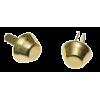 Tasvoetjes, goud, 10mm (per 2)