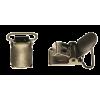 Bretelklem, bronskleurig, 20mm