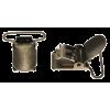 Bretelklem, bronskleurig, 25mm