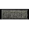Elastiek, 20mm, zilver (licht) - per 25cm