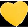 KAM Snaps Heart, 12,4mm, plastic, shiny, yellow - per 10