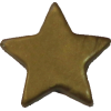 KAM Snaps Star, 12,4mm, plastic, shiny, gold - per 10