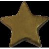 KAM Snaps Ster, 12,4mm, kunststof, glanzend, goud - per 10