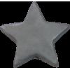 KAM Snaps étoile, 14,1mm, plastique, brillant, argent, - par 10