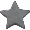 KAM Snaps Star, 12,4mm, plastic, shiny, silver - per 10