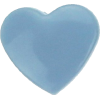 KAM Snaps Heart, 12,4mm, plastic, shiny, light blue - per 10