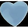 KAM Snaps Heart, 12,4mm, plastic, shiny, light blue - per 10