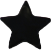 KAM Snaps Star, 12,4mm, plastic, shiny, black - per 10
