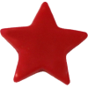 KAM Snaps Star, 12,4mm, plastic, shiny, red - per 10