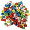 Houten letterkralen, 10x10mm