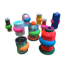 Yarn stop - different colors - 12 pieces