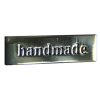 Metal label 'Handmade'