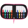 Crochet hooks set, soft feel, 9 hooks, pink