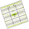 Patchwork liniaal, 15x15cm
