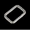 Passant, 20mm, zilver, rechthoekig