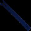 Zipper fantasy, lace, 20cm, blue