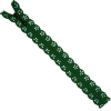 Zipper fantasy, lace, 20cm, green
