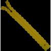 Fantasierits, kant, 20cm, geel