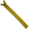 Zipper fantasy, lace, 20cm, yellow