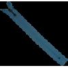 Zipper fantasy, lace, 20cm, light blue