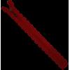 Zipper fantasy, lace, 20cm, red