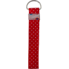 Key chain, 14x3cm, red with white dots