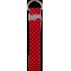 Porte-clés, 14x3cm, rouge avec dots blancs