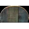 poche zippée, 25x15cm, print bois