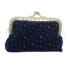 Purse, blue with colored little circles