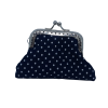 Purse, blue with white dots