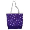 Shoulder bag, violet with butterflies