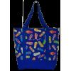 Shoulder bag, blue with slippers