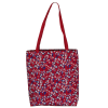 Shoulder bag, red with stars