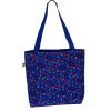 Shoulder bag, blue with umbrella's