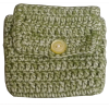 Crochet envelope, green