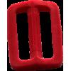 Schuifgesp, 35mm, rood