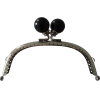 Tassluiting met clip, 12,5mm, zwart/zilver