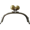 Tassluiting met clip, 12,5mm, geel/zilver