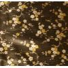 Tafelzeil, zwart met zilver/gouden bloemen, per 25cm