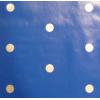 Oilcloth, blue with grey dots, per 25cm
