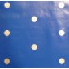 Tafelzeil, blauw met grijze stippen, per 25cm