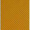 Oilcloth, yellow with white dots, per 25cm