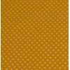 Tafelzeil, geel met witte stippen, per 25cm