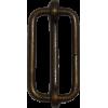Doorschuifgespen, 30mm, brons