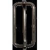 Doorschuifgespen, 40mm, nikkel